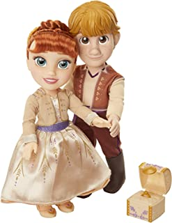 Disney Frozen 2 Anna & Kristoff Dolls Proposal Gift Set, Comes with Ring & Ring Box! Features Authentic Film Details & Design - For Ages 3+