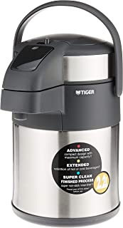 Tiger Double Vacuum Insulated Air Pot Carafe Jug, Beverage Dispenser with Air Pump Action for Hot Cold Water Coffee, Stain...