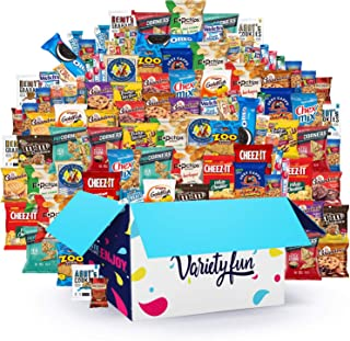 Variety Fun Office Snacks (160 Count) - Bulk Assortment - Over 15 Pounds of Chips Cookies & Candy
