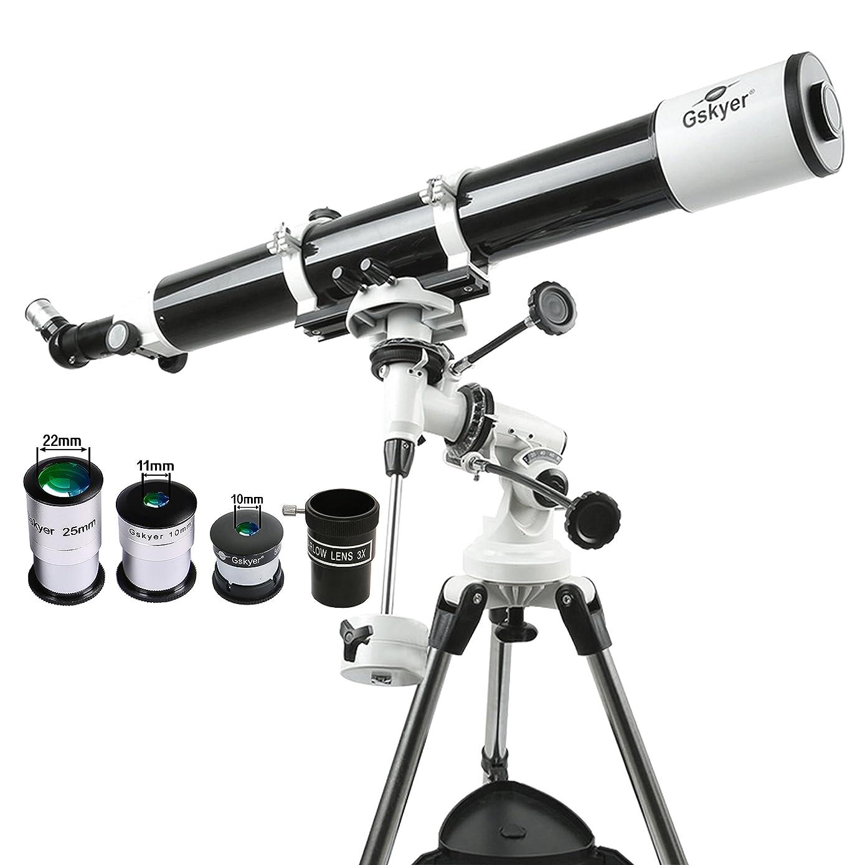 Gskyer Eq 80900 Telescope, German Technology Telescope, Starwatcher Refractors, White, Single