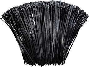 Zip Ties 8 inch Black Zip Ties 1000 pack, Premium Nylon Wire tieswith 50lbs Tensile Strength, UV Resistant Cable Ties, Se...