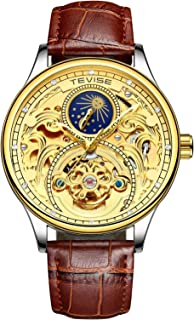 Tevise Casual Watch Analog Leather Band for Men,