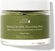 100% PURE Matcha Oat Milk Nourishing Mask, Powder Face Mask, Anti-Aging, Anti Inflammatory, Softens, Moisturizes Skin, Restorative Facial Mask - 0.8 oz