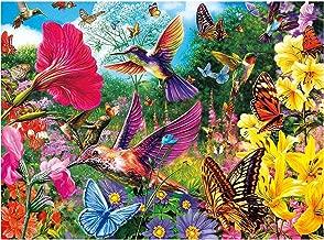 MXJSUA DIY 5D Diamond Painting Full Round Drill Kits Rhinestone Picture Art Craft for Home Wall Decor 12X16In Hummingbird Bird Flowers Butterfly