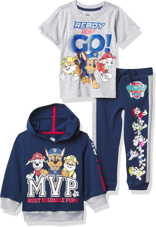 Nickelodeon Paw Patrol Graphic Hoodie, T-Shirt, & Jogger Sweatpant, 3-Piece...