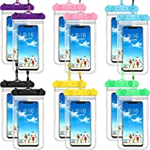 Frienda 12 Pieces Universal Waterproof Phone Pouch Underwater Case Clear Cellphone Dry Bag with Lanyard Outdoor Beach Swimming Snorkeling Bag for Smartphone up to 6.9 Inch
