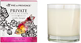 Pre de Provence Private Collection Candle, Lotus & Oud, 8 Ounce
