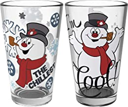 Zak Designs FTSA-B081 Christmas Collectibles Pint Glasses, 16oz 2 Piece, Frosty the Snowman