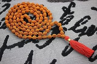 Storite Rudraksha Mala 108 Beads Necklace, Seed Bead Natural Himalaya Rudraksha Seed Prayer Beads Wrist Mala Wrap Bracelet Bead Size 9 mm (1 Pack)