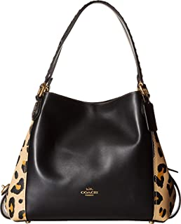 COACH Women's Edie Shoulder Bag 31 With Blocked Leopard Print