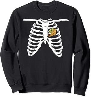 Skeleton Rib Cage Costume Xray Bones Funny Halloween Taco Sweatshirt