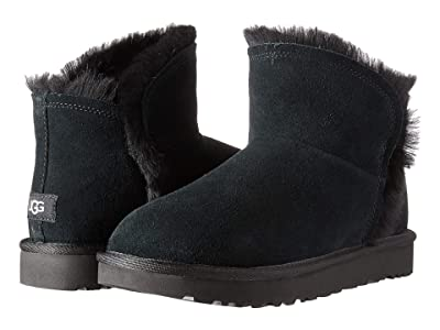 UGG Classic Mini Fluff High-Low (Black) Women