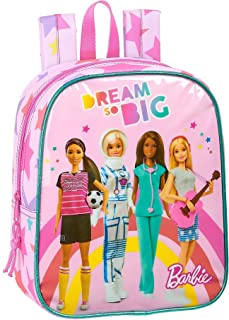 612010232 Mochila guardería niña Adaptable Carro Barbie, Rosa