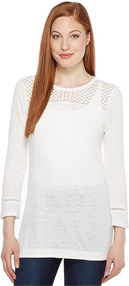 Dot Lace Applique Tunic
