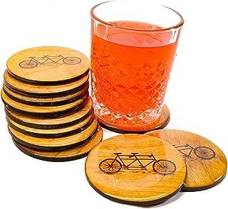 PREMIUM Tandem Bicycle Coasters - Set of 4 3.5