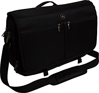 SwissGear by Wenger Insider 16 Laptop Messenger with Tablet Pocket - Black