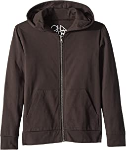 Cotton Jersey Zip-Up Hoodie (Little Kids/Big Kids)