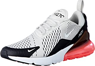 Nike Mens Air Max 270 Running Shoes Black/Light Bone/Hot Punch/White AH8050-003 Size 8.5
