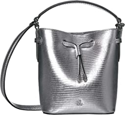 Silver Embossed Leather