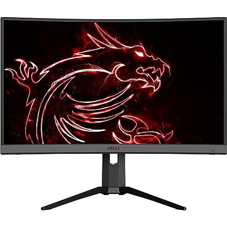 "MSI Optix MAG272CQR Monitor Gaming 27"" Curvo, Display 16:9 WQHD (2560 x 1440), Freq 165Hz, HDR Ready, 1ms, Type-C, Pannello VA, Curvatura 1500R, Mystic Light RGB, Gaming OSD APP, VESA 100x100"