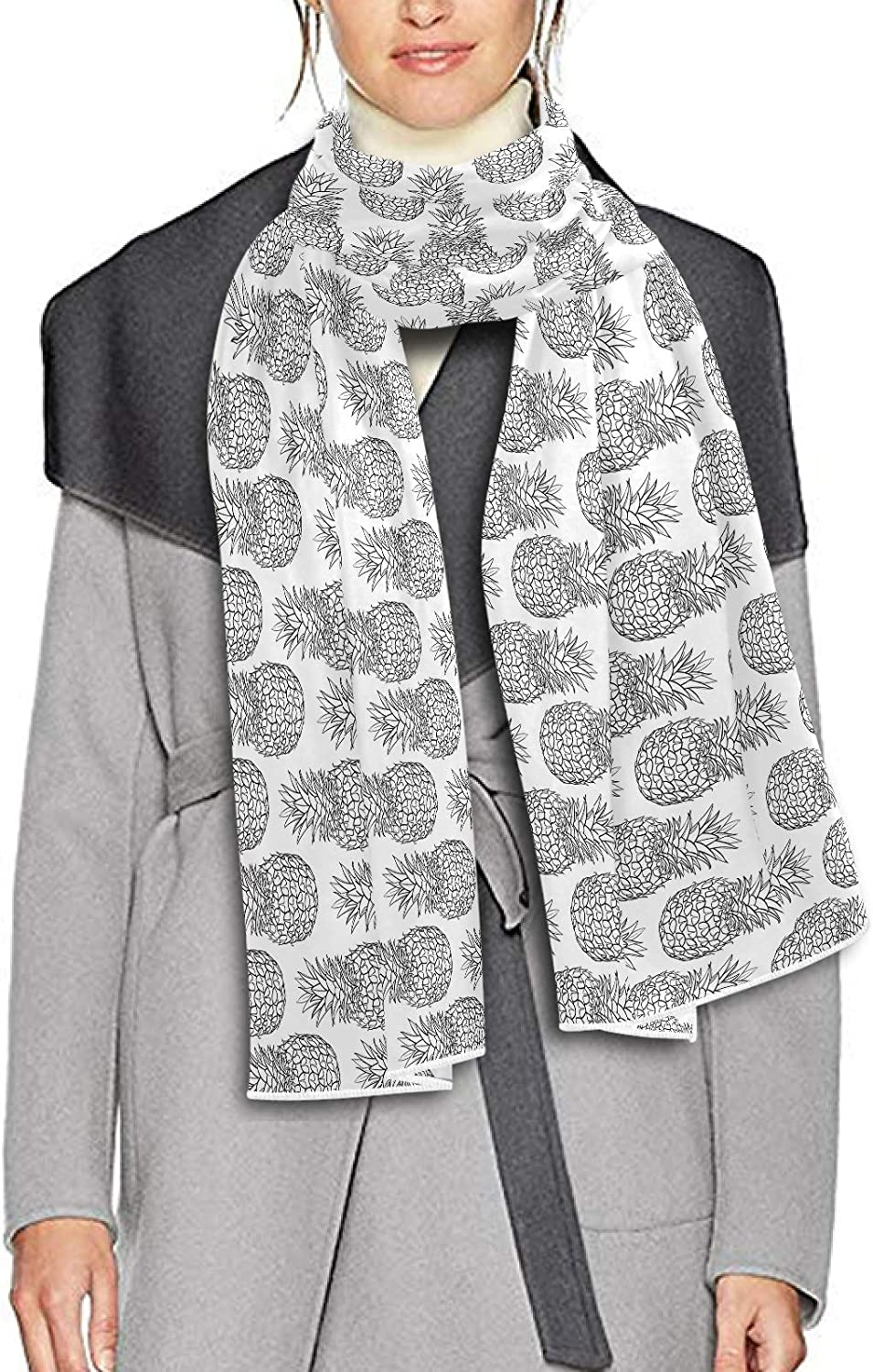 Scarf for Women and Men Pineapple Shawl Wraps Blanket Scarf Soft Thick Winter Large Scarves Lightweight