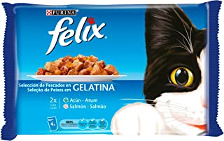 Felix - Fantastic Festín del Mar en Gelatina Pack surtido sobres 4 x 100 g - 400 g