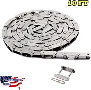 C2050-SS Stainless Steel Conveyor Roller Chain 10 Feet with 1 Connecting Link