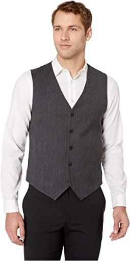 Slim Fit Stretch Heathered Stripe Vest