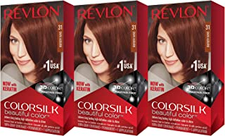 Revlon Colorsilk Beautiful Color, Dark Auburn, 3 Count