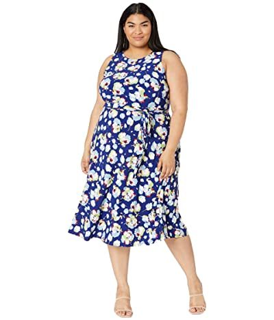 LAUREN Ralph Lauren Plus Size Floral Jersey Dress Women