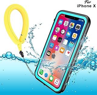 3cf6e047b04 Funda Impermeable iPhone XS iPhone X, IP68 Waterproof Outdoor Delgado Cover  a prueba de choques
