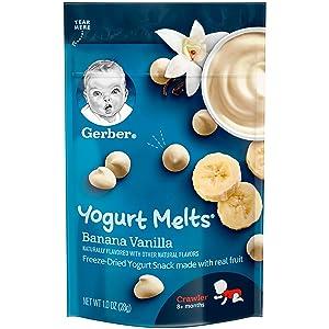 Gerber Yogurt Melts, Banana Vanilla, 1 Ounce (Pack of 7)