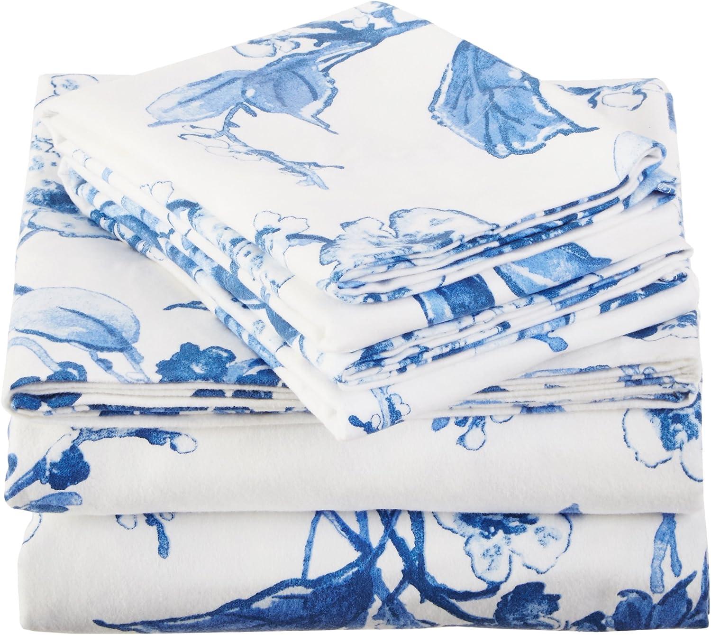 Amazon Brand Pinzon Signature 190-Gram Blue Bed Sheet