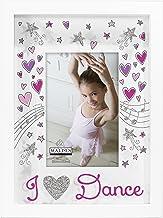 إطار صورة I Love Dance مقاس 10.16 سم × 15.24 سم من تصميمات مالدن العالمية، باللون الأبيض والوردي