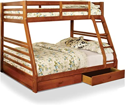 HOMES: Inside + Out IDF-BK588A Lamo Bunk Bed, Twin/Full,