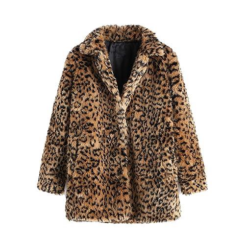 3e91cb258bfbf SweatyRocks Women Khaki Hooded Dolman Sleeve Faux Fur Cardigan Coat for  Winter