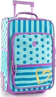 "Heys America kids Softside 18"" Upright Carry-On Wheeled Luggage (Dots-Stripes)"