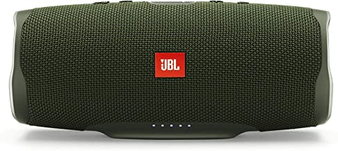 JBL Charge 4 Bluetooth-Lautsprecher in Grün – Wasserfeste, portable Boombox mit..