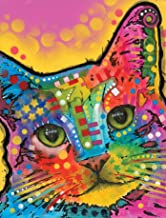 Dean Russo Tilted Head Cat Journal: Lined Journal