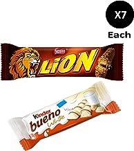 Lion Bars 7 x50g + Kinder Bueno White Chocolate Bar 7 x39g.