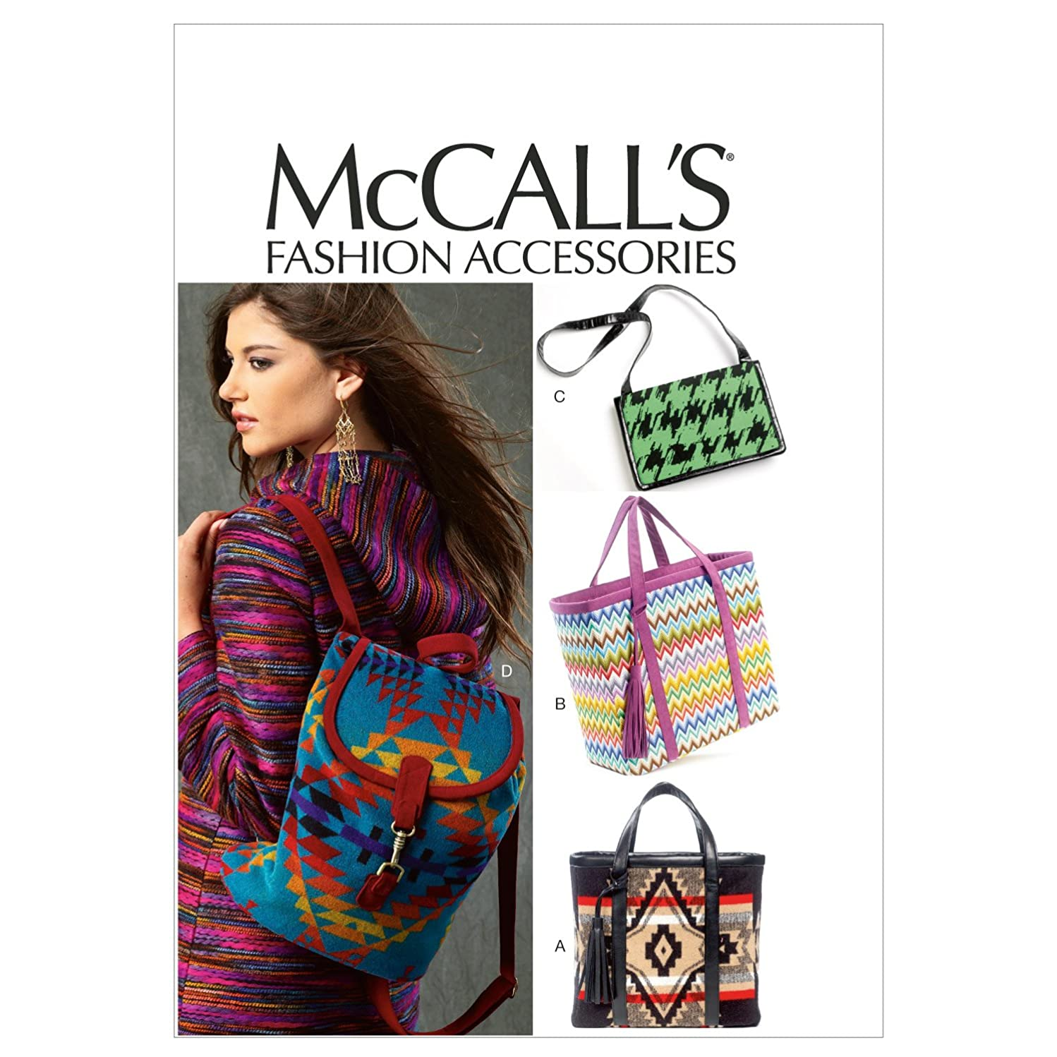 McCall Patterns M6663 Bags Sewing Template