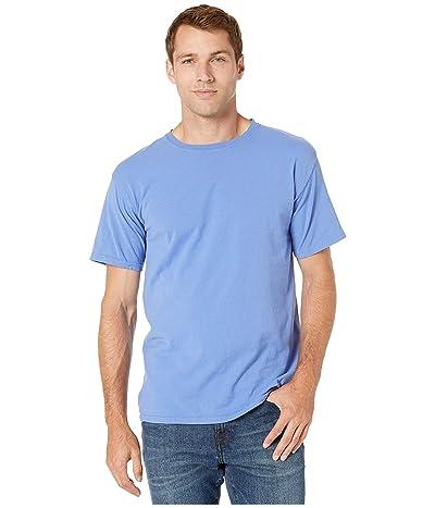 Hanes ComfortWashtm Garment Dyed Short Sleeve T-Shirt (Deep Forte Blue) Clothing