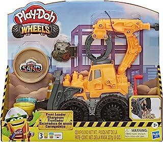Play-Doh Spychacz, zabawkowa ciężarówka dla dzieci w wieku od 3 lat z nietoksyczną piaskową masą plastyczną Play-Doh i kla...