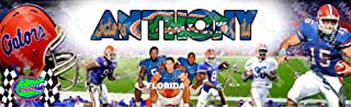 Personalized / Customized Florida Gators Name Poster Wall Decor Door Birthday Art Banner