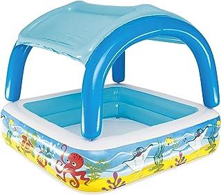 BESTWAY 52192 Piscina Hinchable Infantil con Parasol Canopy, 147x147x122 cm