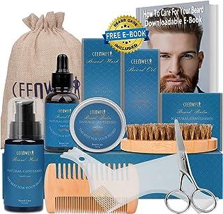 10 in 1 Beard Grooming Kit for Beard Care Unique Gifts for Men, Beard Oil, Beard Brush,..