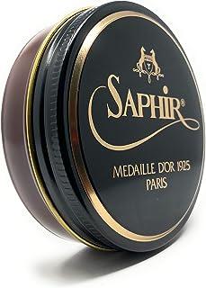 Saphir Medaille Pate De Luxe 50ml Wax Shoe Polish Medium Brown