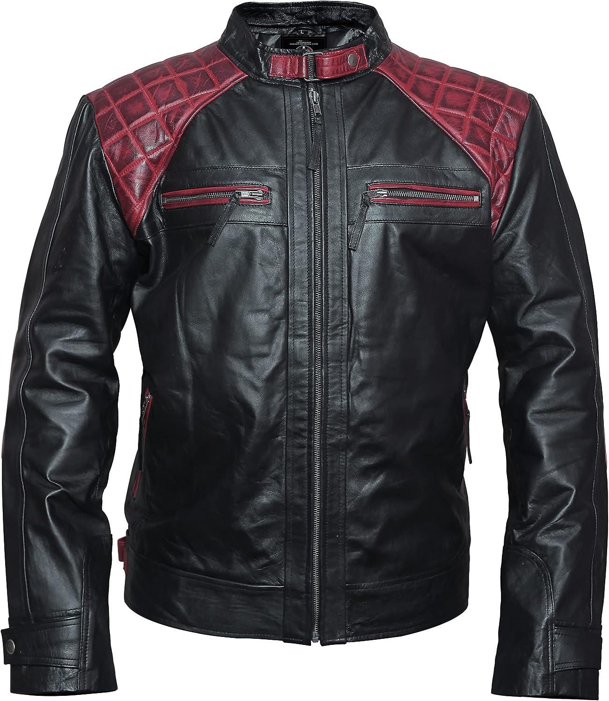 Men's Fashion Stylish Black Biker Genuine Sheepskin Leather Jacket For Men - VM1922830
