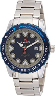 Naviforce Men's Blue Dial Stainless Steel Analogue Classic Watch - NF9178-SBE
