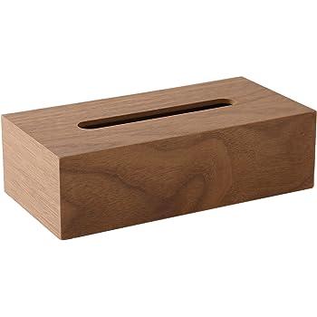 【ティッシュケース・ホルダー】 木製 ティッシュボックス おしゃれな ティッシュケース ティッシュ カバー ケース 可能 ベージュ・ダークブラウン 約26×13×7.5cm (ダークブラウン)